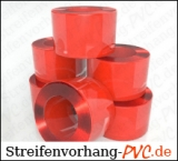 PVC Rollenware Rot