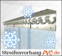 Tiefkühl PVC Streifenvorhang 3,00m Breite x 3,00m Länge