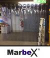 Transparenter Vorhang aus PVC Rollenware 25m, 30cm, 3mm, 300x3mm