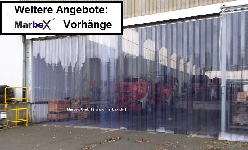 Großer Industrievorhang PVC Transparent verschiebbar in Hallen zum verschieben